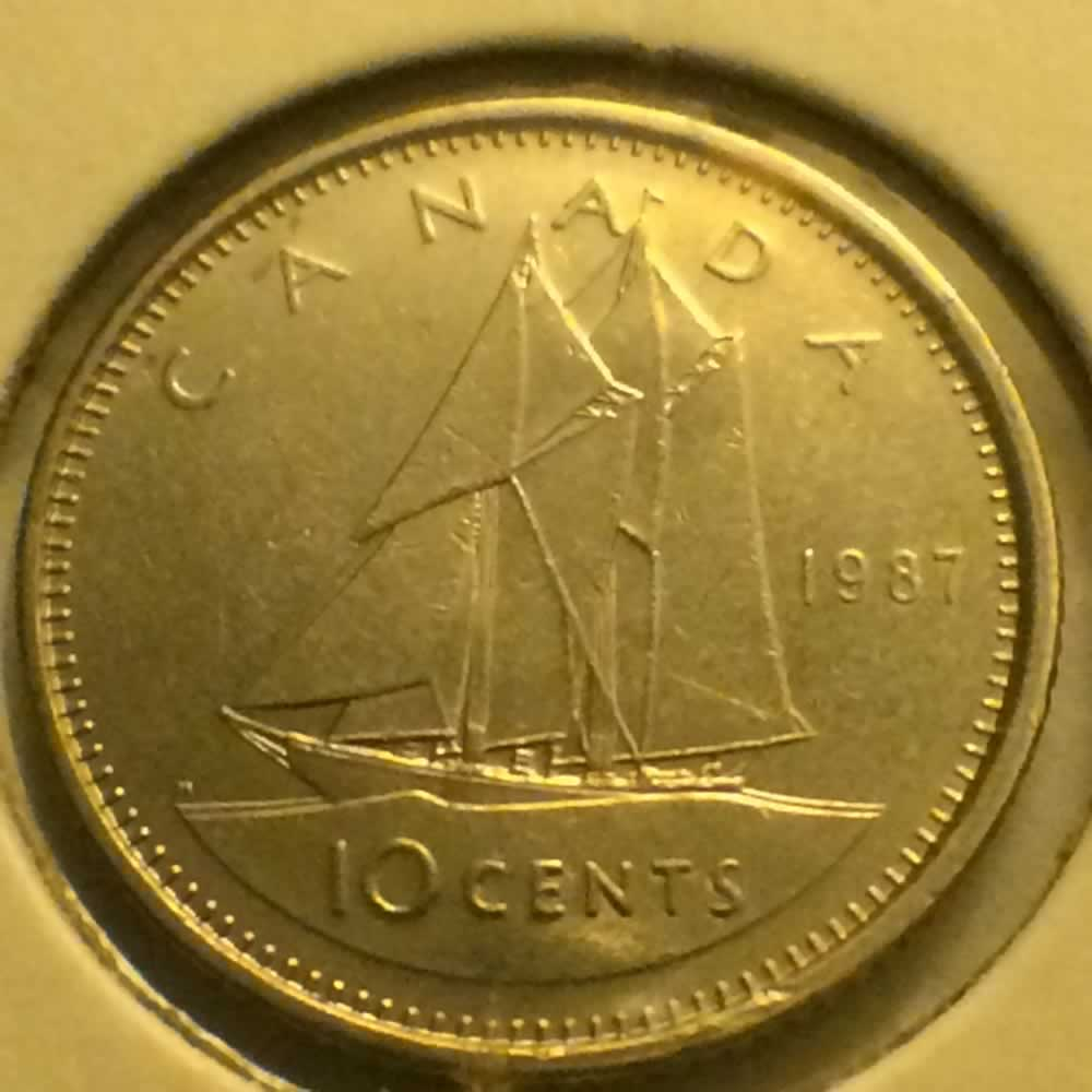Canada 1987  Canadian Ten Cents ( C10C ) - Reverse