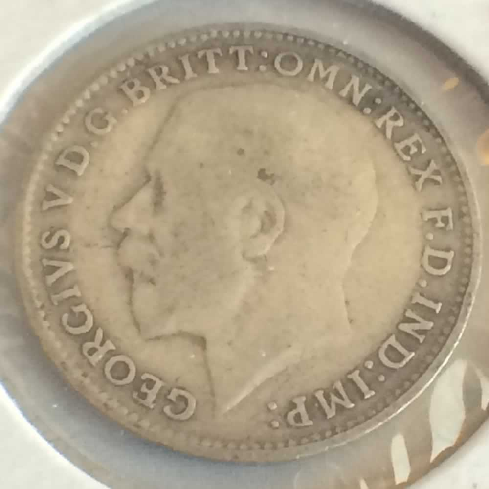 GB 1914  Silver 3 Pence ( 3P ) - Obverse