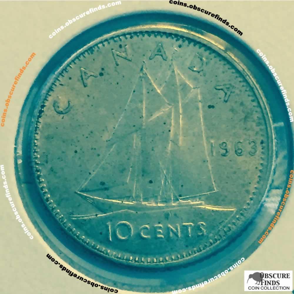 1963 Canada 1953 1964 Elizabeth Ii Silver Ten Cents