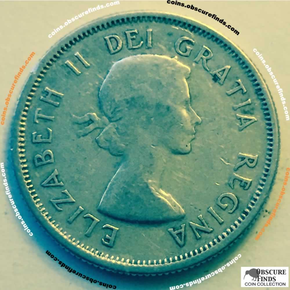 1957 Canada 1953 1964 Elizabeth Ii Silver Quarter Ofcc Ungraded Cs25c Ofcc 236 1270