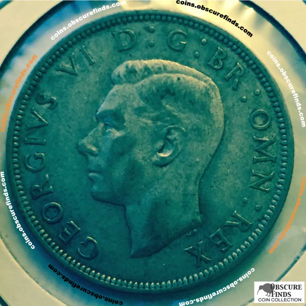GB 1942  George VI Half Crown ( HC ) - Obverse