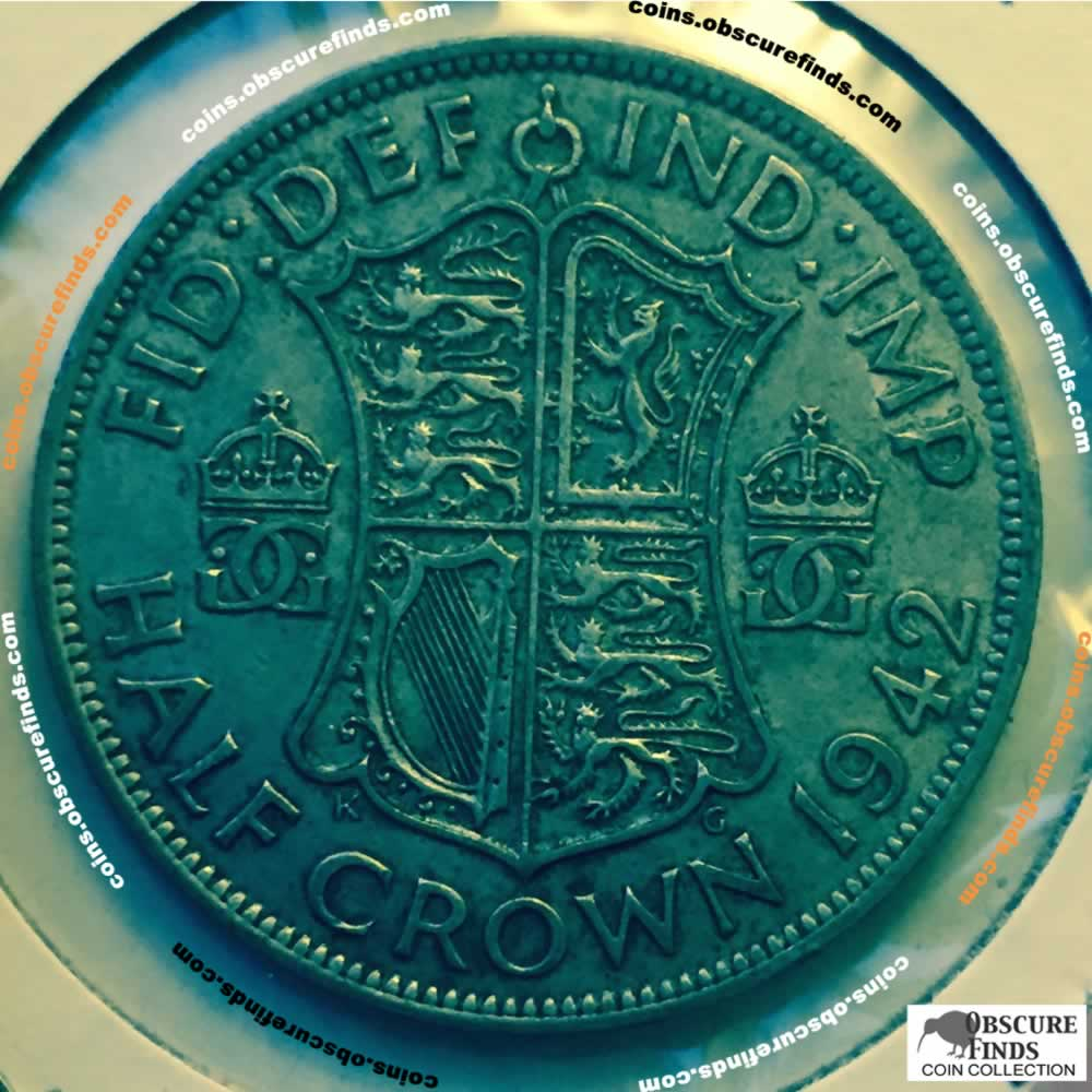 GB 1942  George VI Half Crown ( HC ) - Reverse