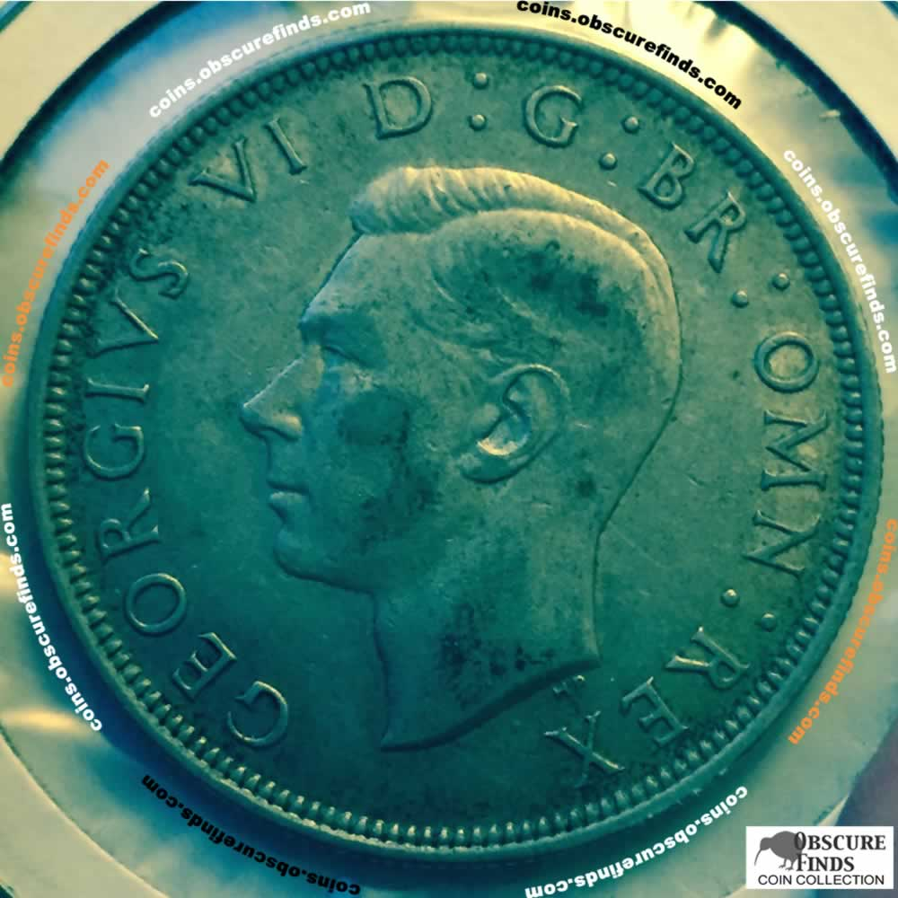 GB 1946  George VI Half Crown ( HC ) - Obverse