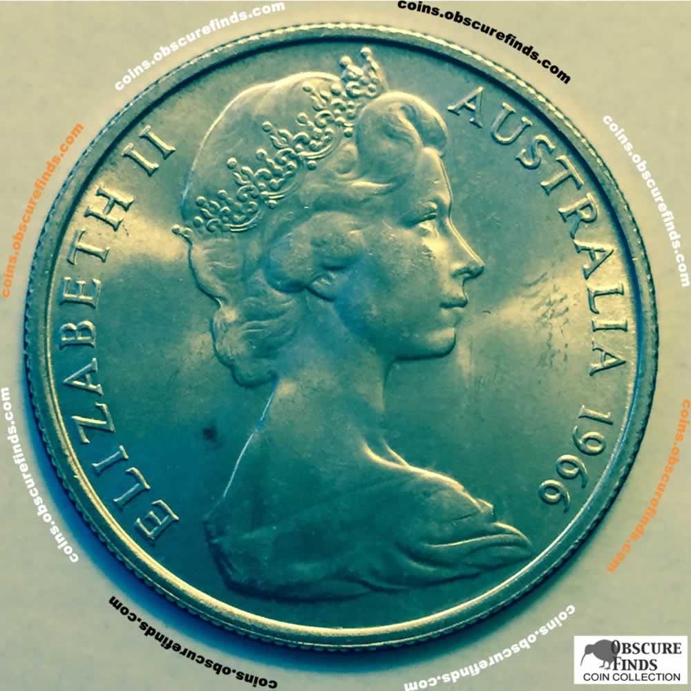 1966 Australia 1966 Elizabeth Ii Australian 50 Cents