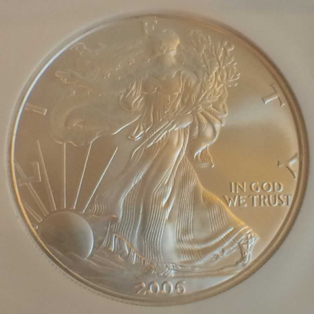 US 2006  Silver Eagle ( S$1 ) - Obverse