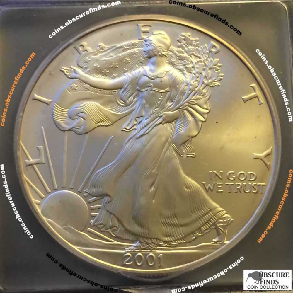 US 2001  Silver Eagle ( S$1 ) - Obverse