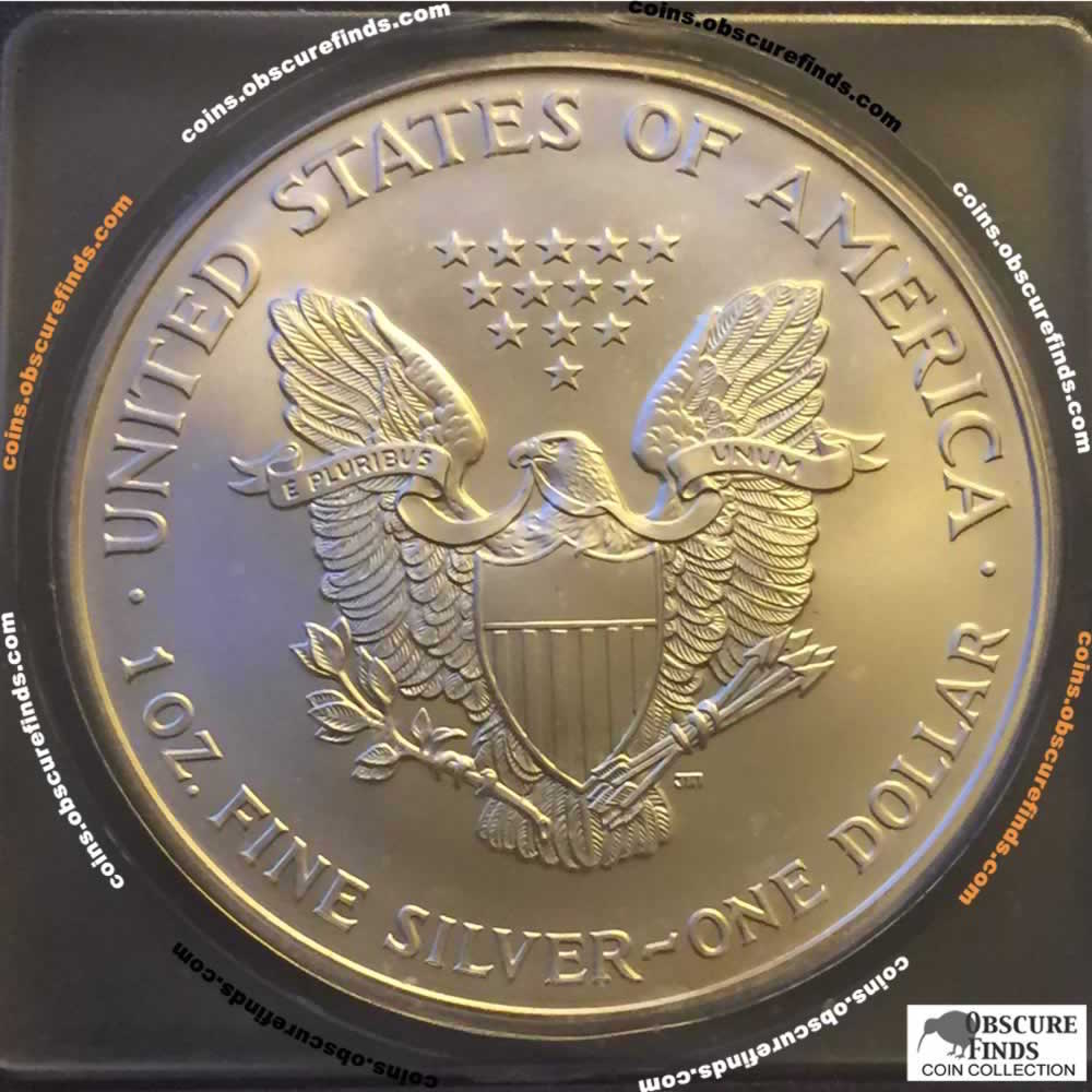 US 2001  Silver Eagle ( S$1 ) - Reverse