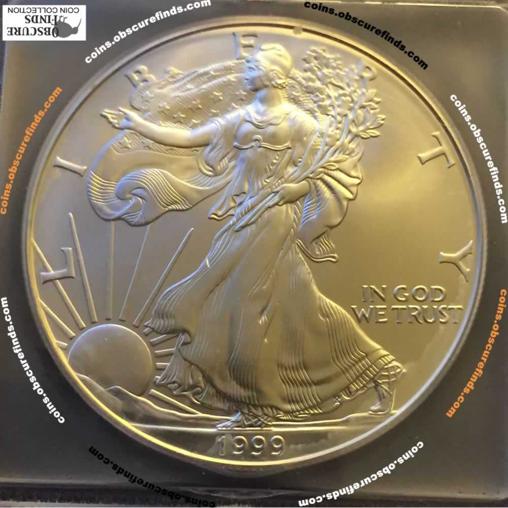 US 1999  Silver Eagle ( S$1 ) - Obverse