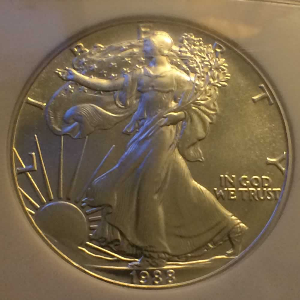 US 1988  Eagle ( S$1 ) - Obverse