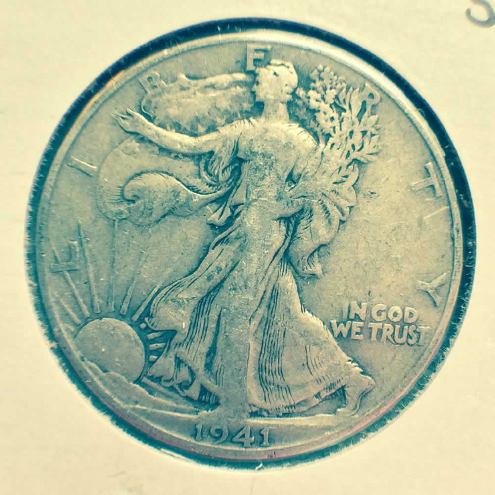 US 1941 D Walking Liberty half dollar ( S50C ) - Obverse
