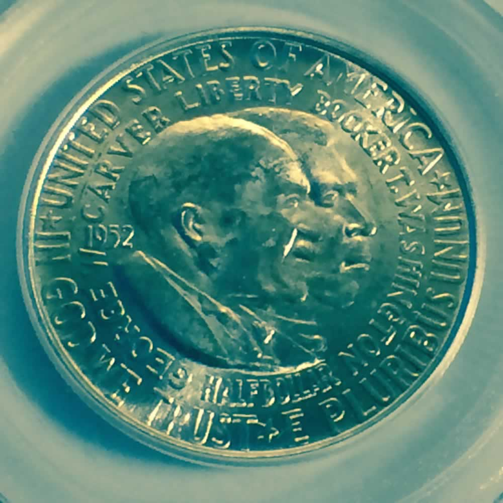 1952 Us 1951 1954 Washington Carver Silver Half Dollar