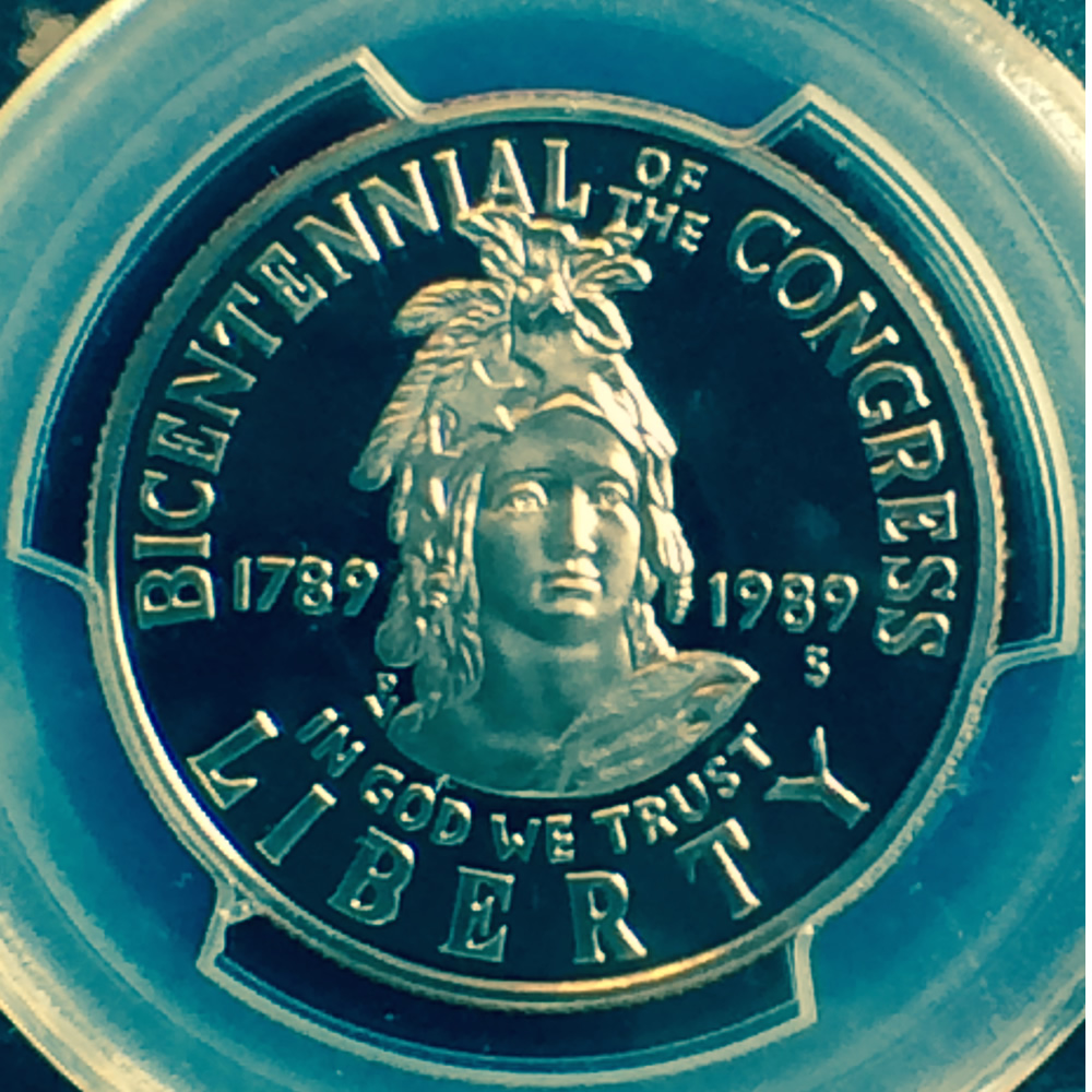 US 1989 S Congress Half Dollar ( 50C ) - Obverse
