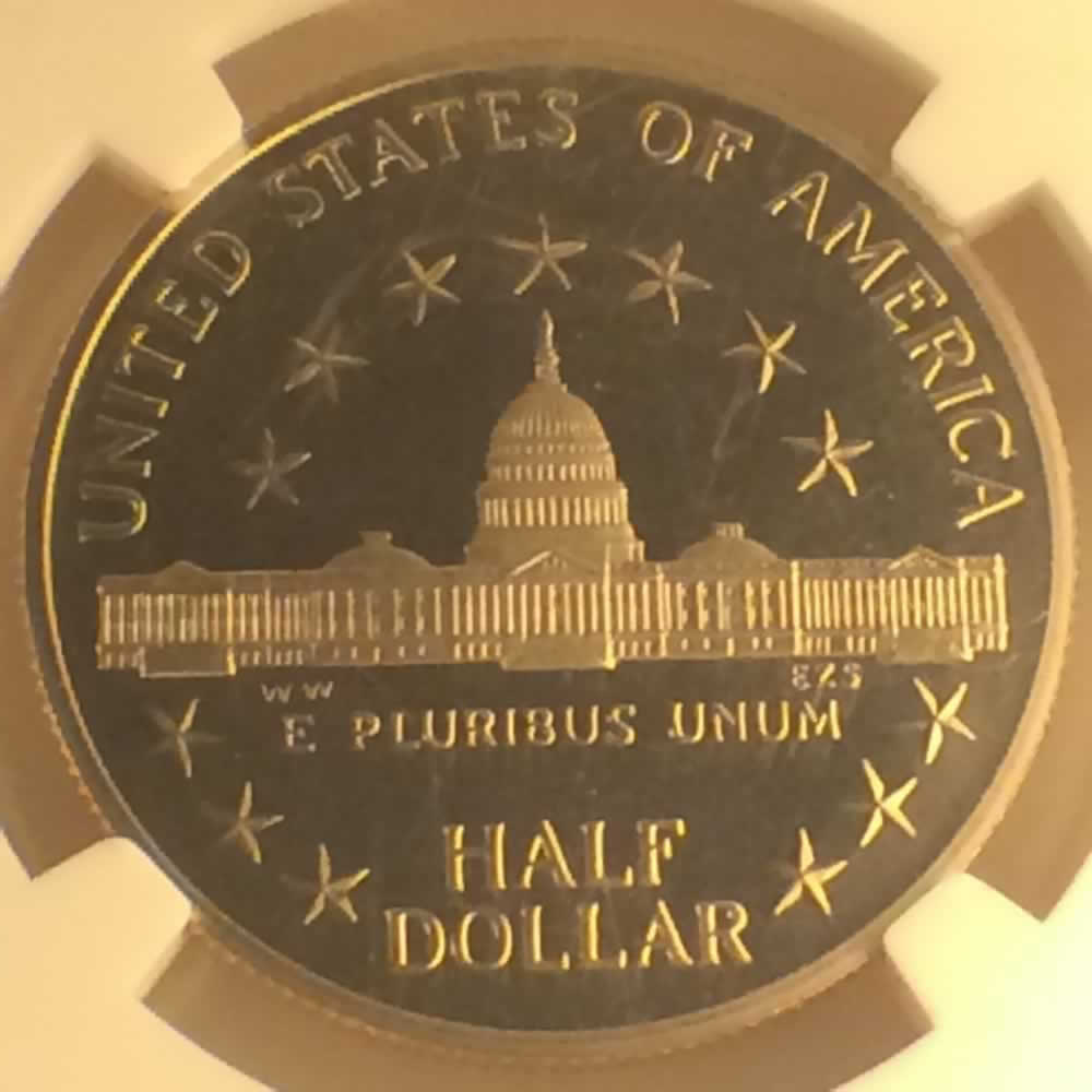 US 1989 S Congress Half Dollar ( 50C ) - Reverse