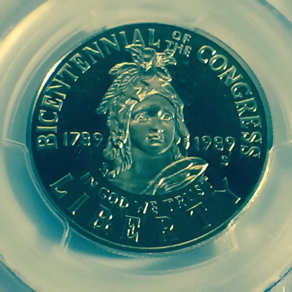 US 1989 D Congress Half Dollar ( 50C ) - Obverse