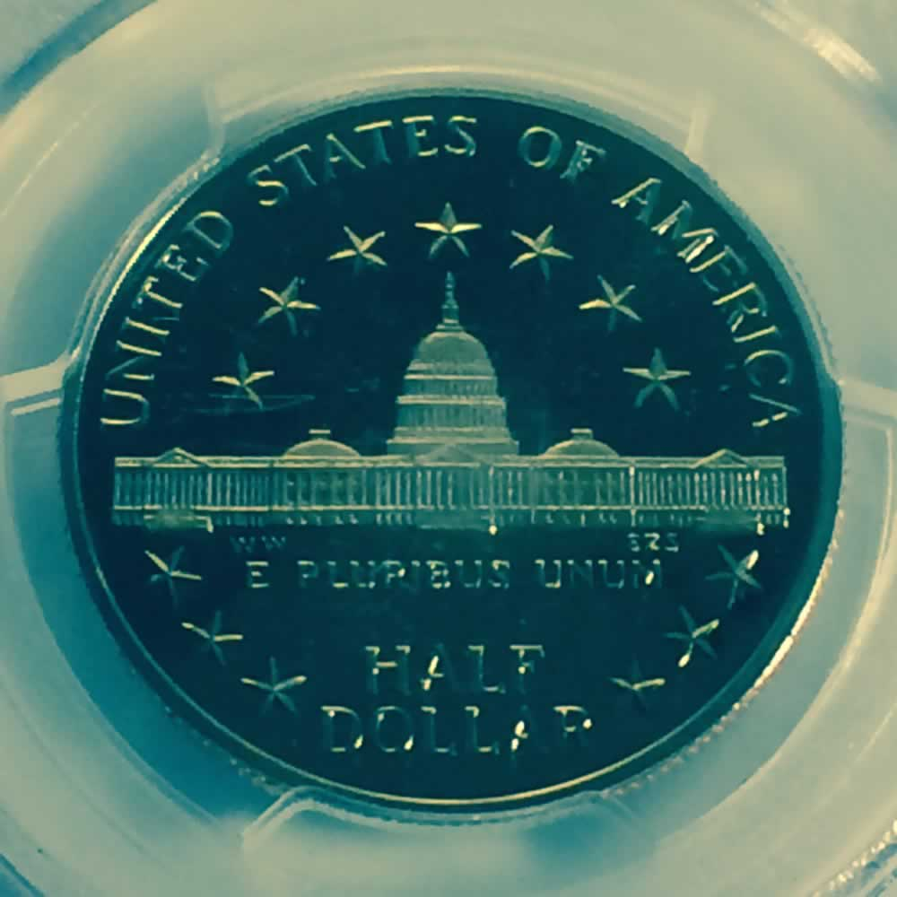 US 1989 D Congress Half Dollar ( 50C ) - Reverse