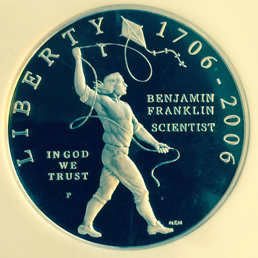 US 2006 P Ben Franklin Scientist ( S$1 ) - Obverse