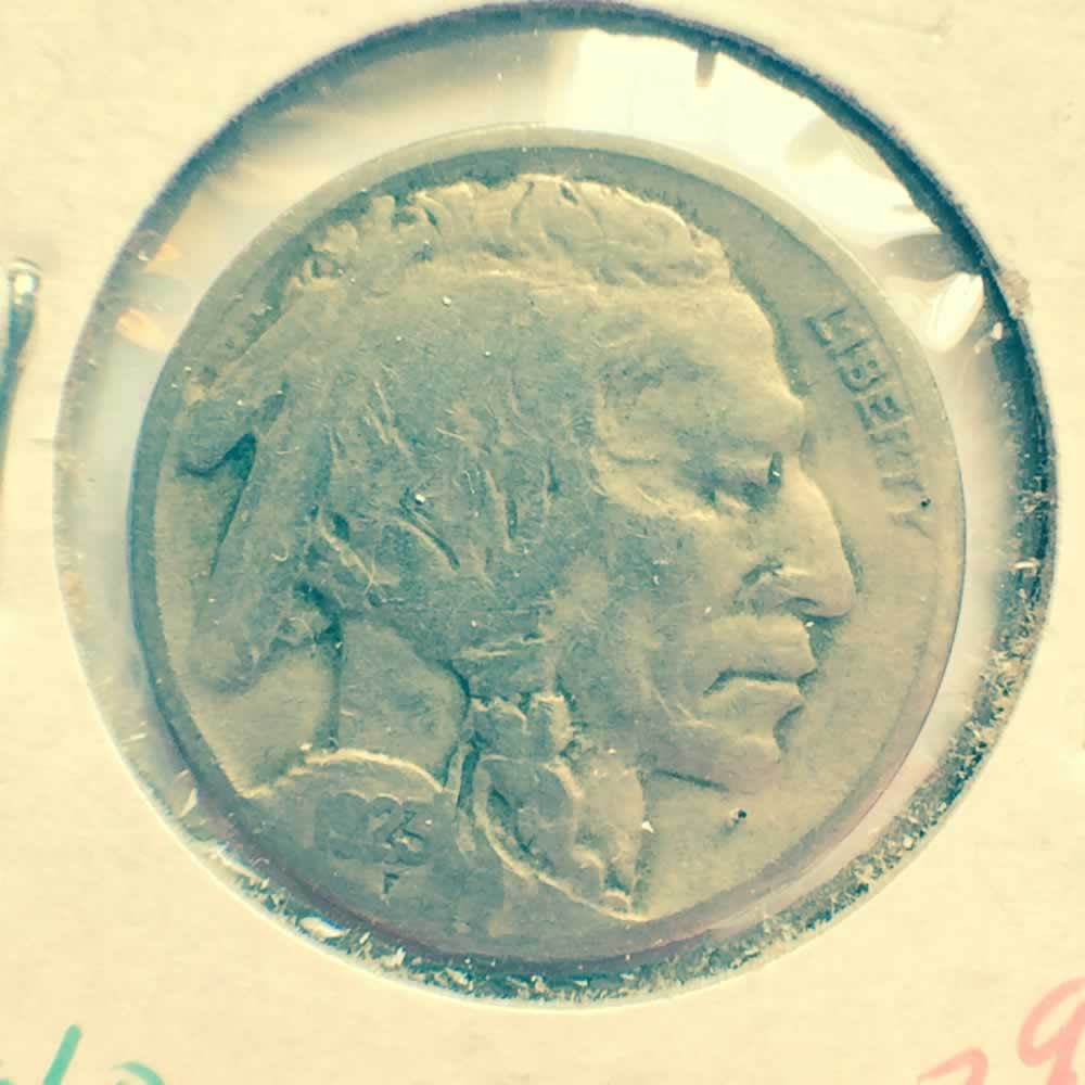 US 1923  Buffalo Nickel ( 5C ) - Obverse
