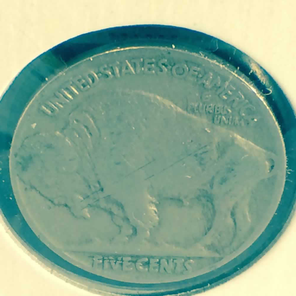 US 1929  Buffalo Nickel ( 5C ) - Reverse