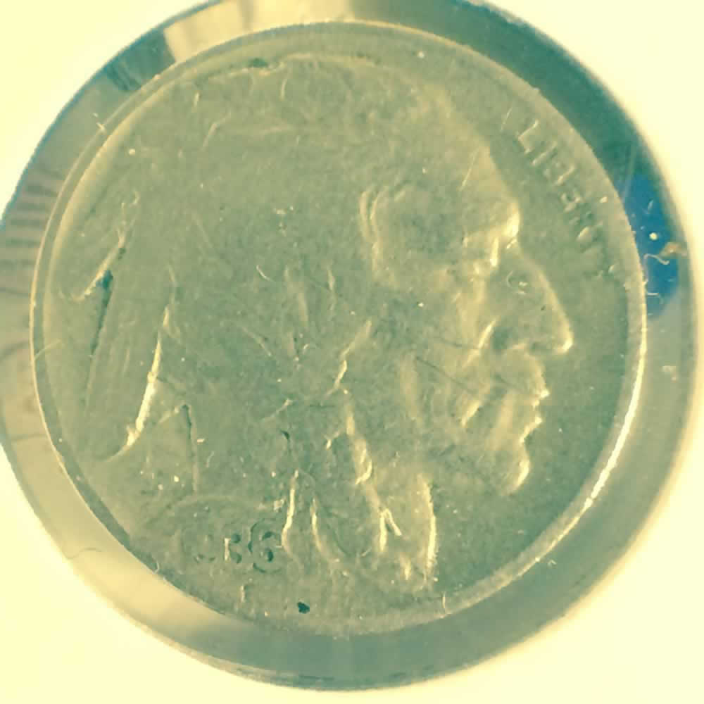 US 1936  Buffalo Nickel ( 5C ) - Obverse