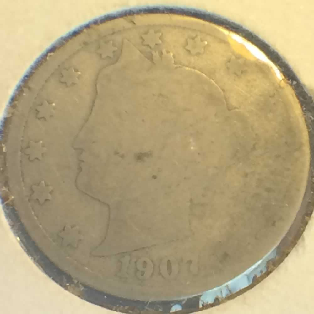 US 1907  Liberty Head V Nickel ( 5C ) - Obverse