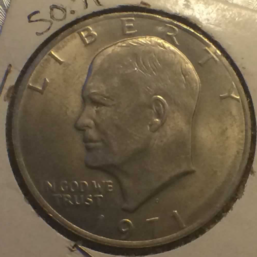 US 1971 D Eisenhower Dollar ( $1 ) - Obverse