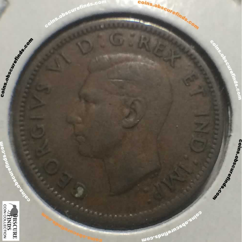 Canada 1938  Canadian One Cent ( C1C ) - Obverse
