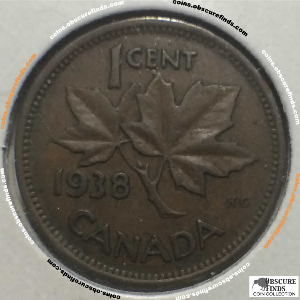 Canada 1938  Canadian One Cent ( C1C ) - Reverse
