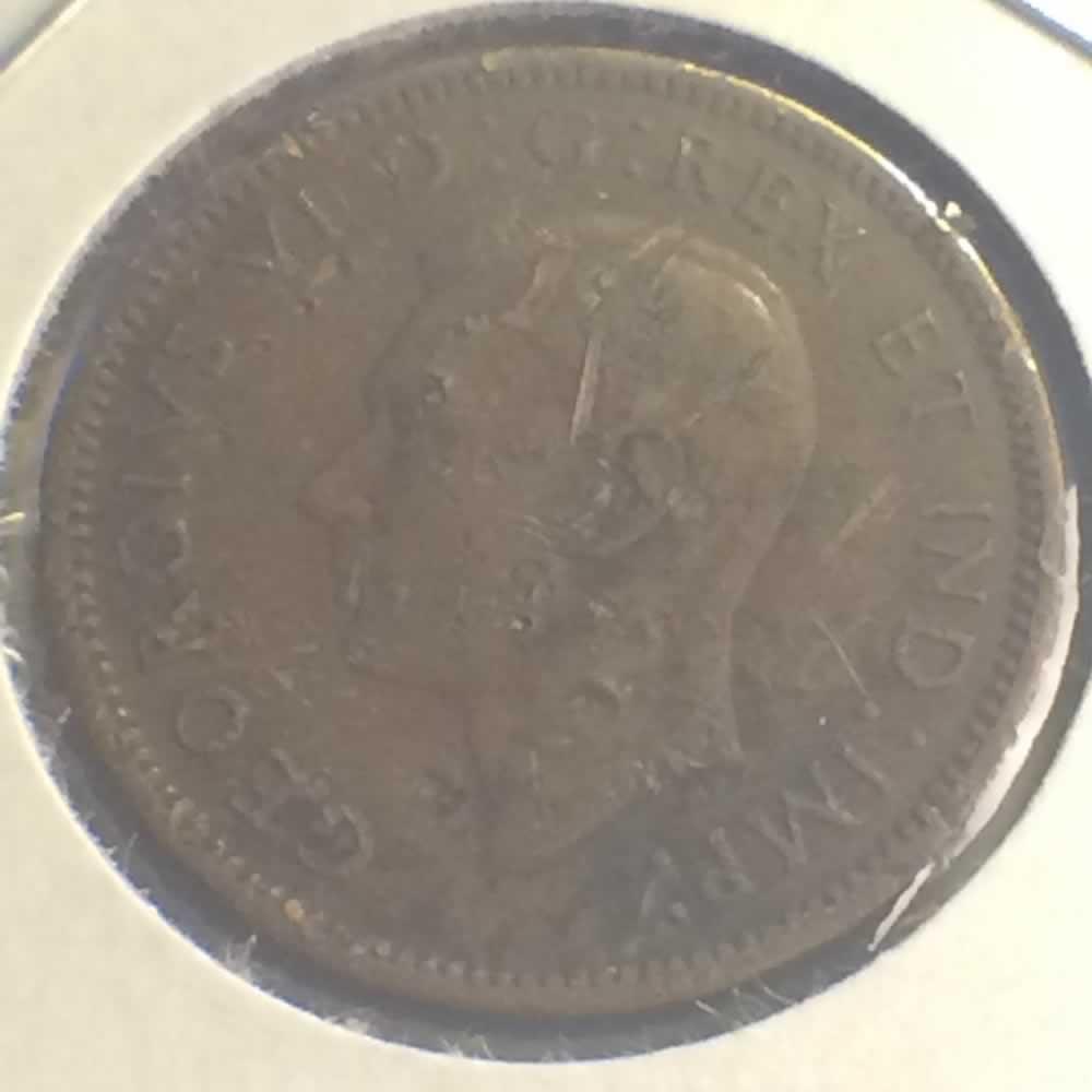 1940 Canada 1937 1952 George Vi Canadian One Cent Ofcc Ungraded George Vi C1c Ofcc