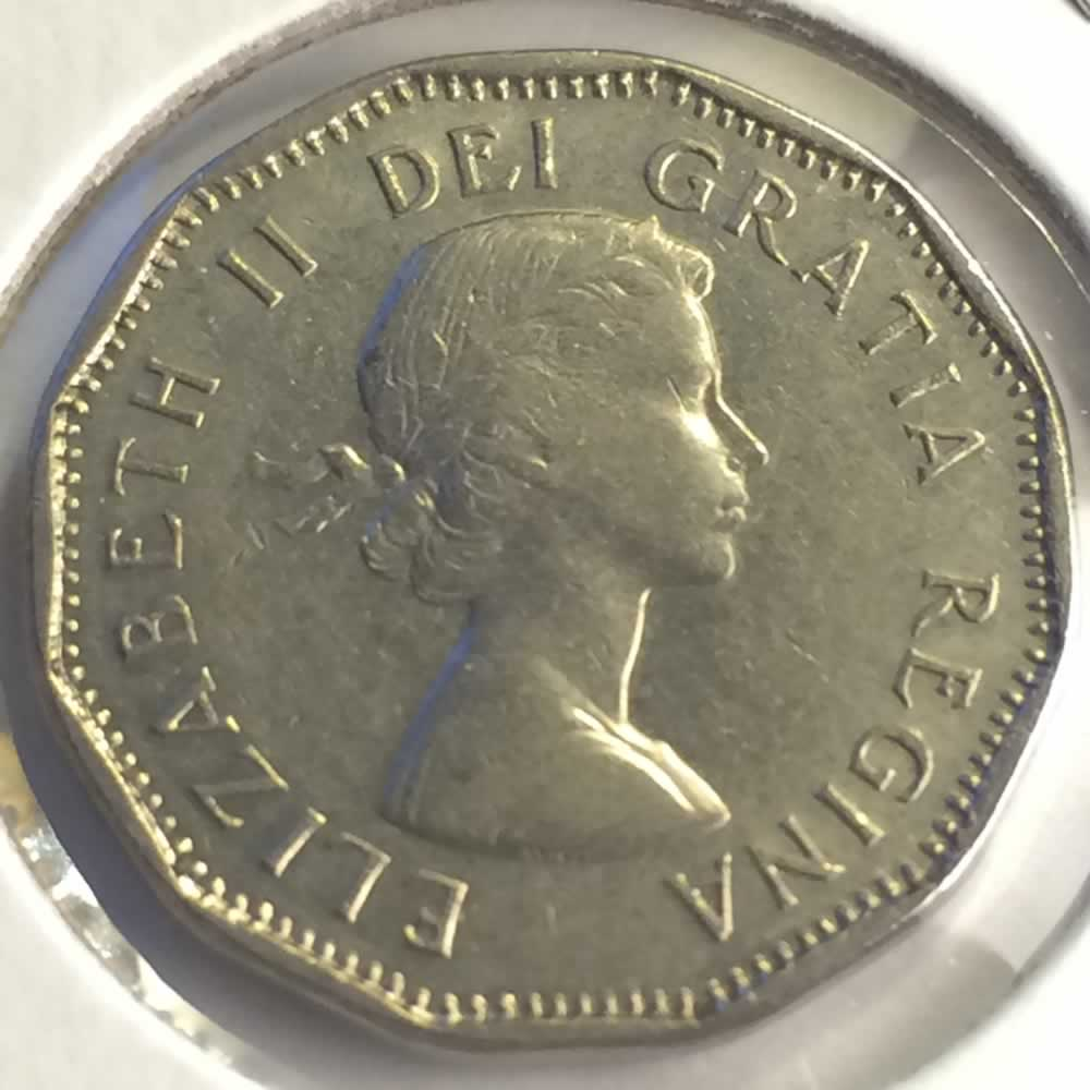 Canada 1962  Canadian Five Cent - Error ( C5C ) - Obverse