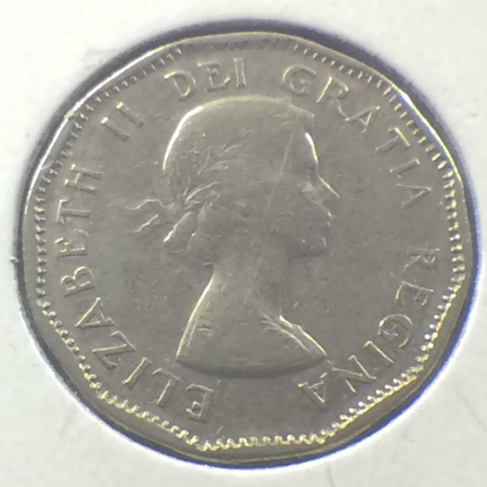 Canada 1958  Canadian 5 Cents ( C5C ) - Obverse