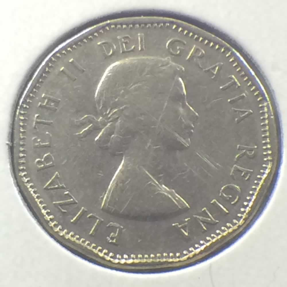 1959 Canada 1955 1962 Elizabeth Ii Canadian Five Cents Ofcc Ungraded C5c Ofcc 63 846