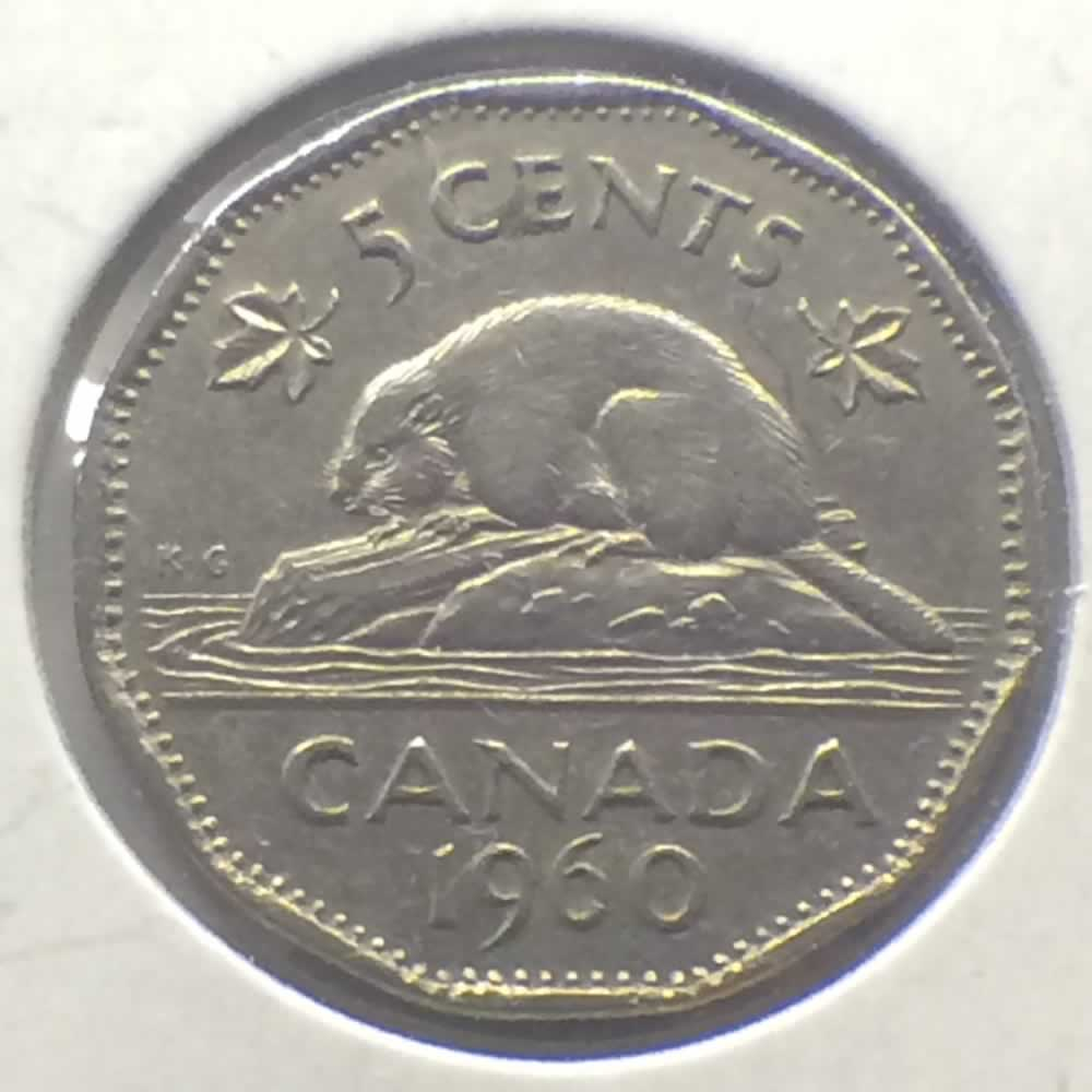 Canada 1960  Canadian 5 Cents ( C5C ) - Reverse