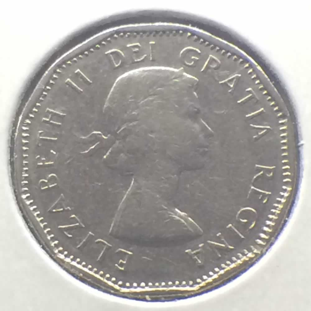 Canada 1961  Canadian 5 Cents ( C5C ) - Obverse