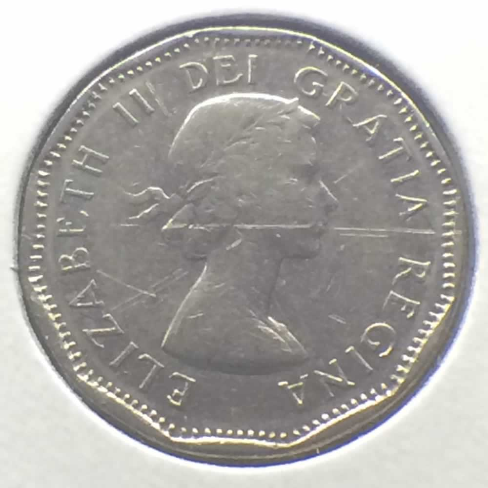 Canada 1962  Canadian 5 Cents ( C5C ) - Obverse