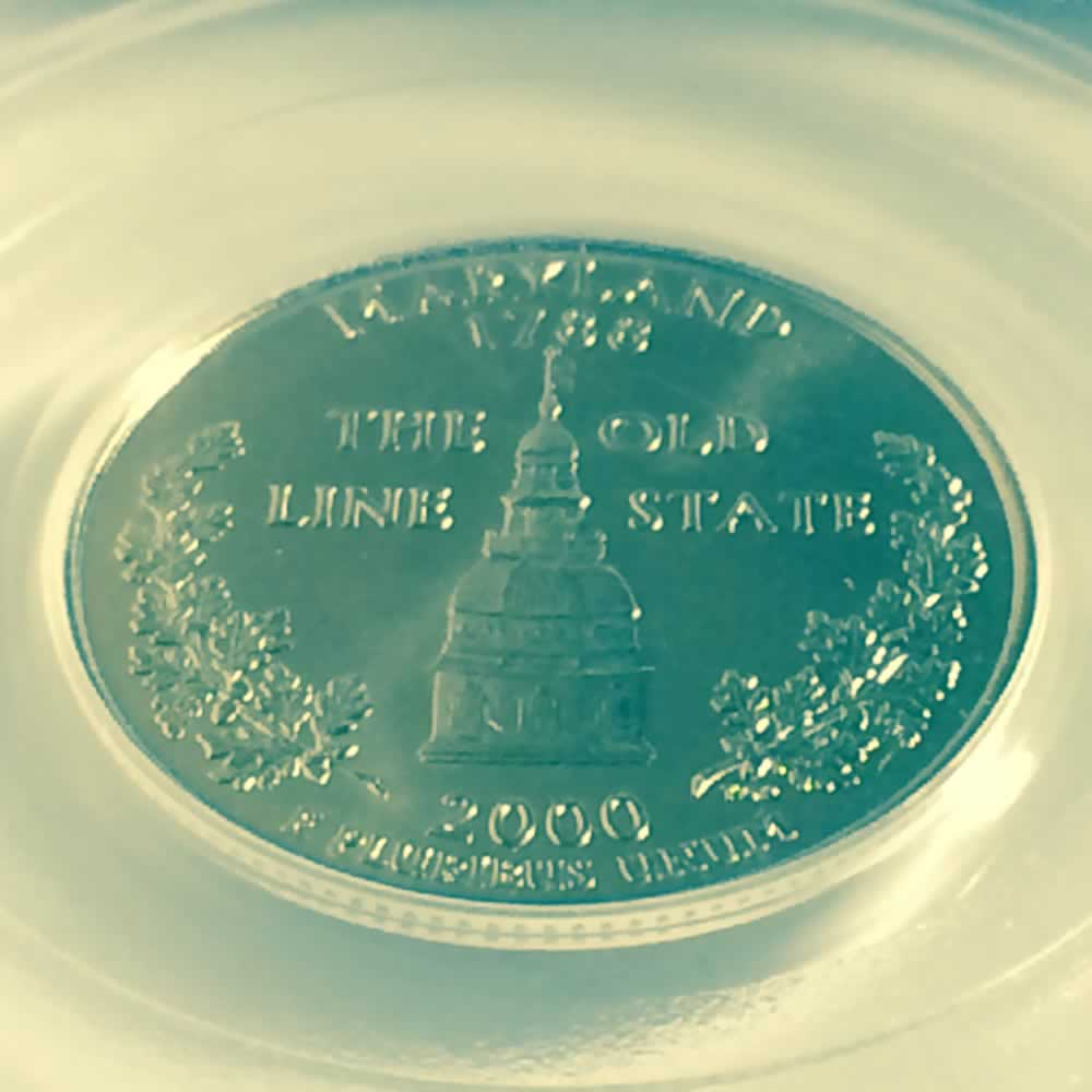 US 2000 P Maryland Statehood Quarter ( 25C ) - Reverse