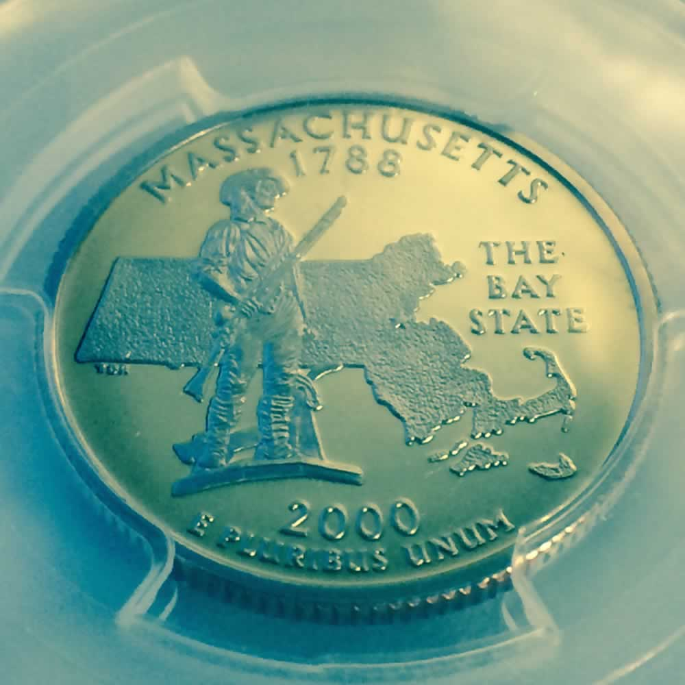 US 2000 S Massachusetts Statehood ( 25C ) - Reverse