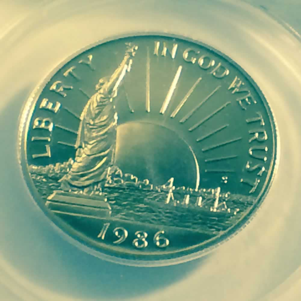US 1986 S Statue of Liberty Half Dollar ( 50C ) - Obverse