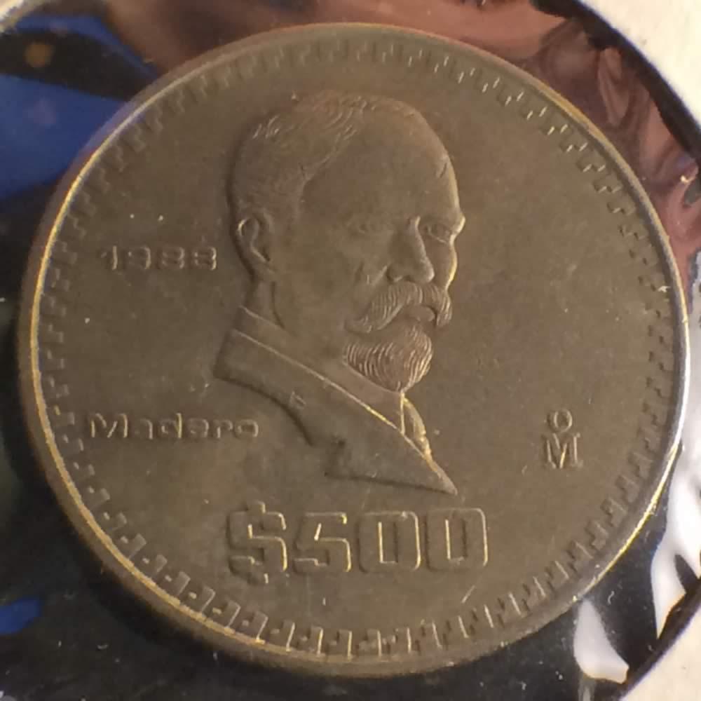 1988 M Mexico 1986 1992 500 Pesos Ofcc Ungraded 500p