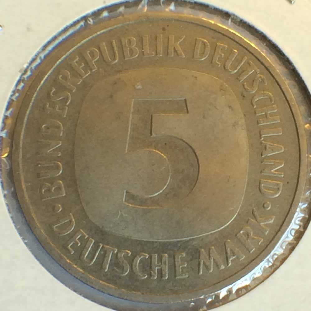 Germany 1989 F 5 Deutsche Mark ( DM 5 ) - Reverse