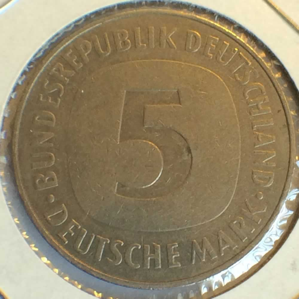 Germany 1984 J 5 Deutsche Mark ( DM 5 ) - Reverse