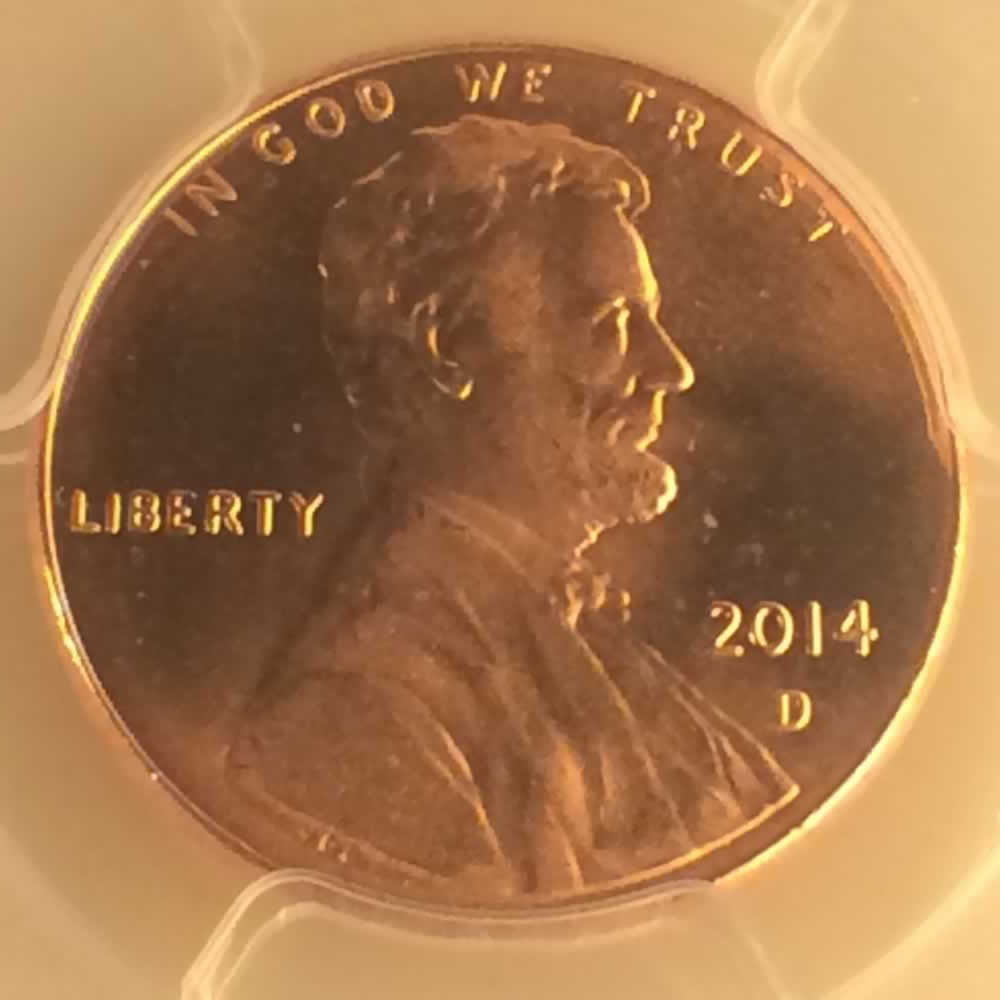 US 2014 D Union Shield Penny ( 1C ) - Obverse